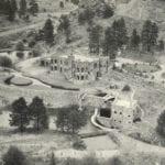 Dunafon Castle Evergreen Colorado Vintage Aerial View