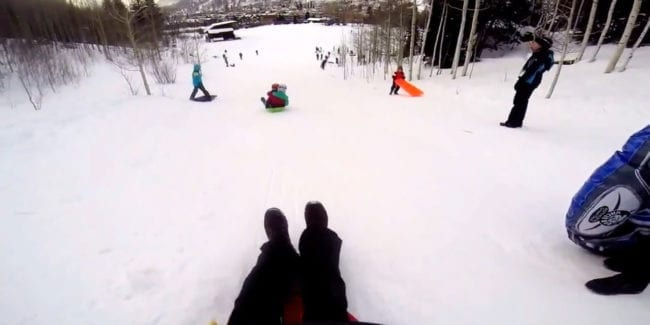 Firecracker Sledding Hill Telluride Colorado