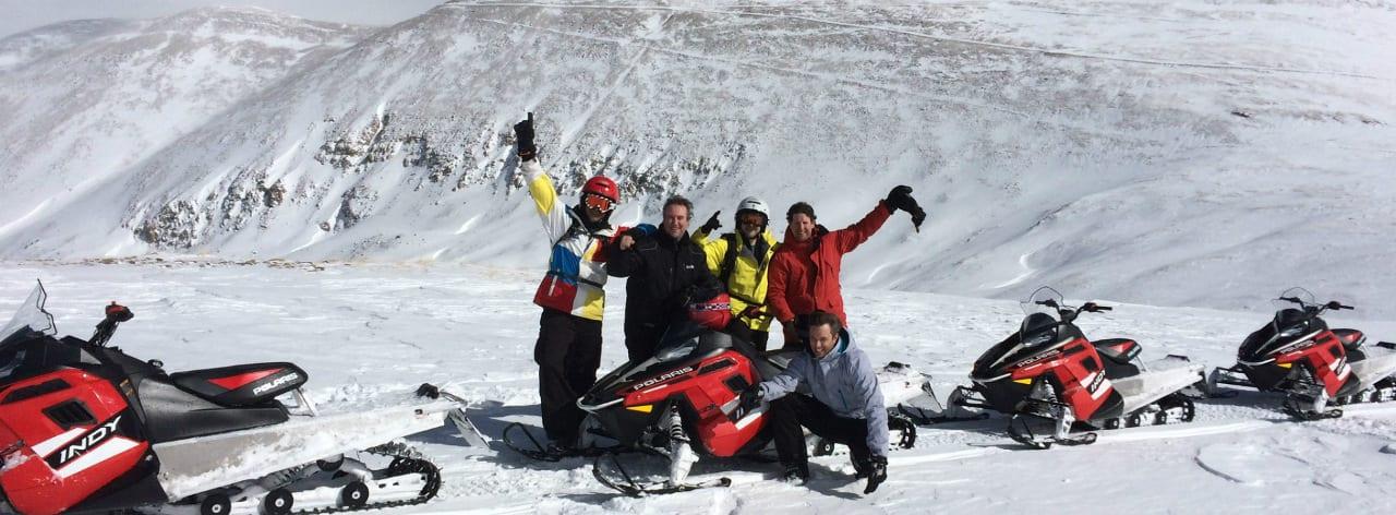 Snowmobile Tour Group Breckenridge Colorado