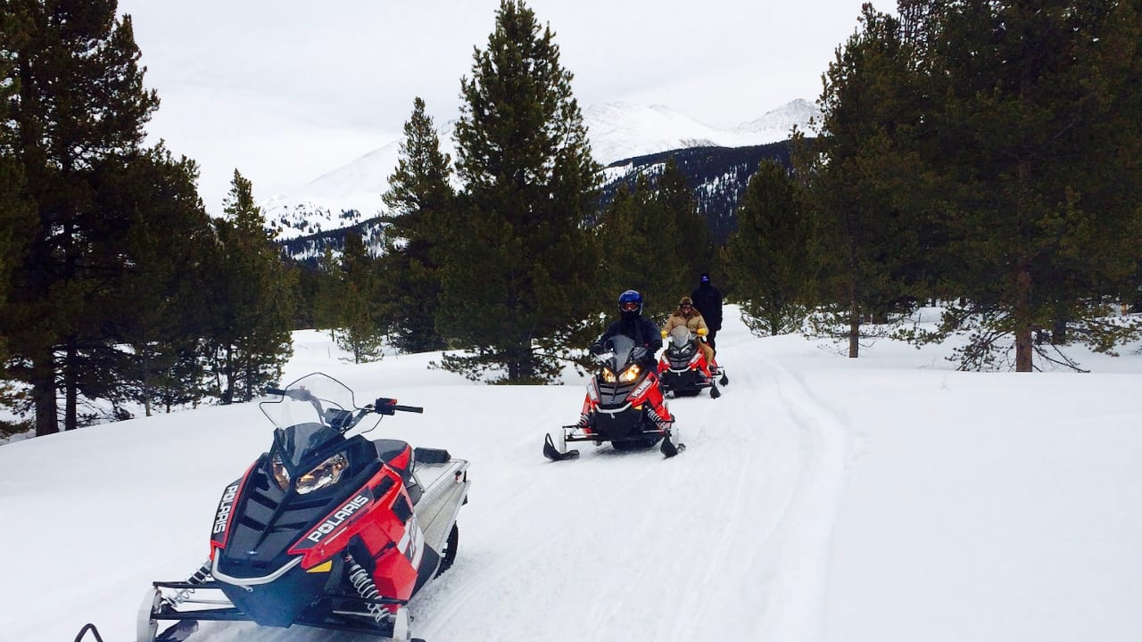 Snowmobile Tour Copper Mountain Colorado