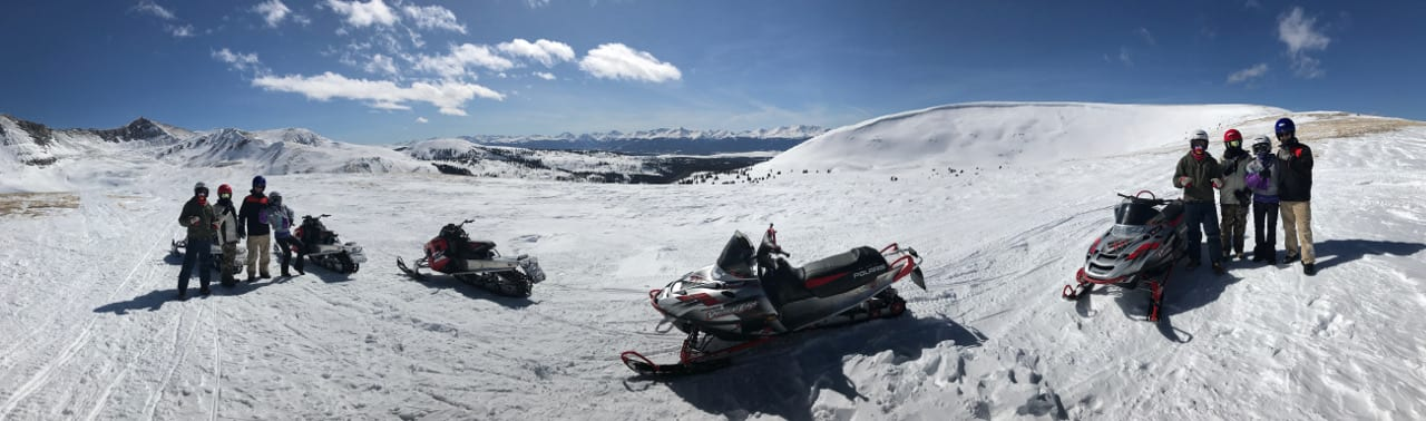 Snowmobiling Summit County Colorado Panorama