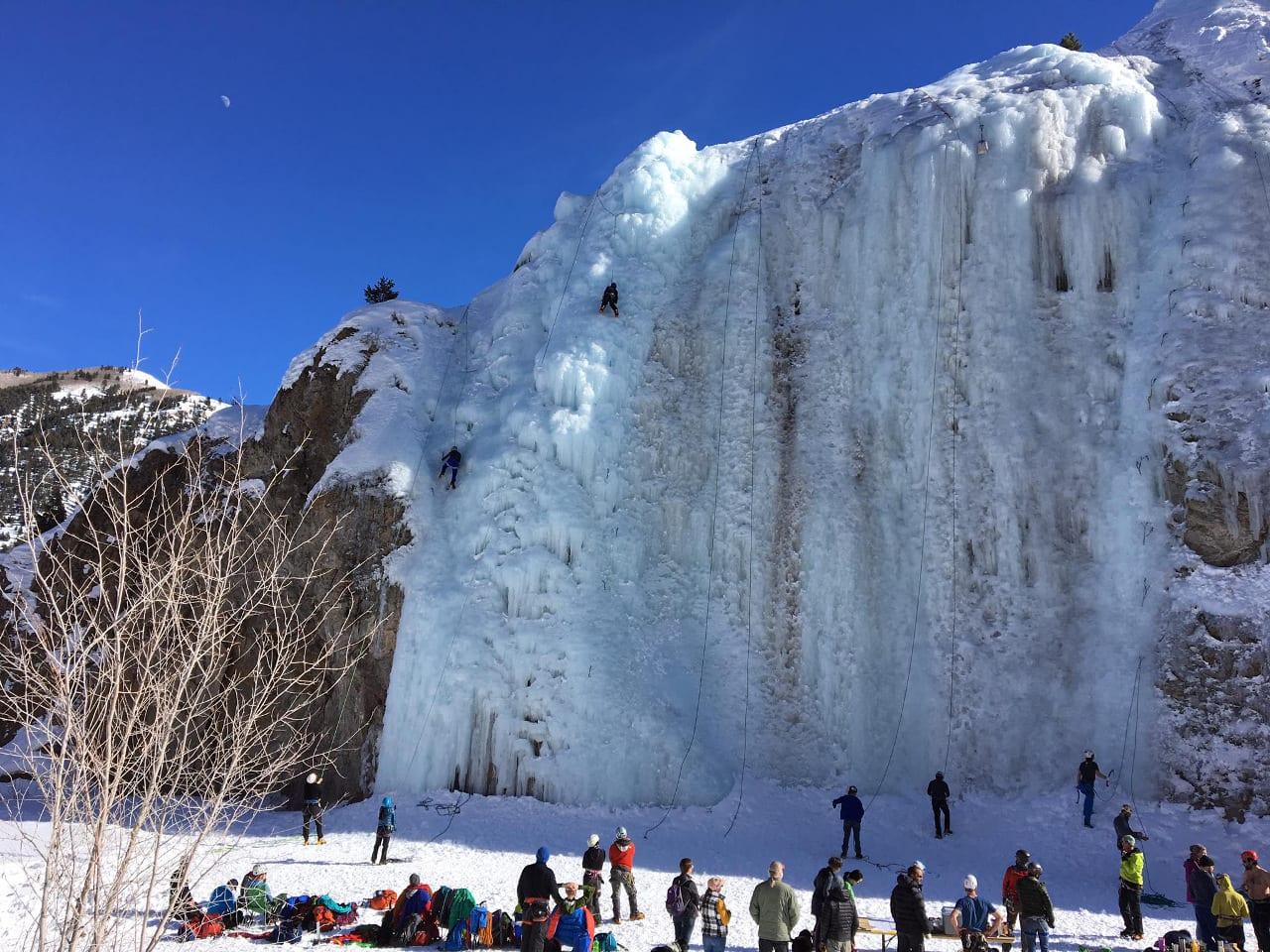 Lake City Ice Park Ice Climbing Colorado