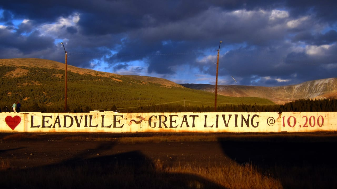 Leadville Colorado Great Living 10,200 Feet Sign