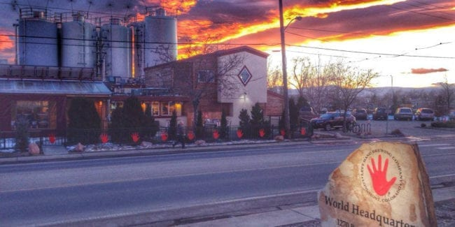 Left Hand Brewery Boulder Colorado Sunset