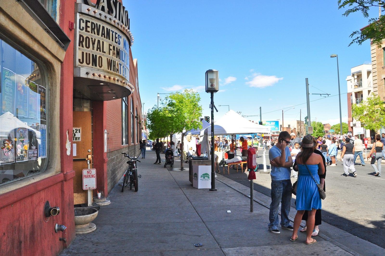 During Jazz Fest on Welton Street in Five Points, Denver
