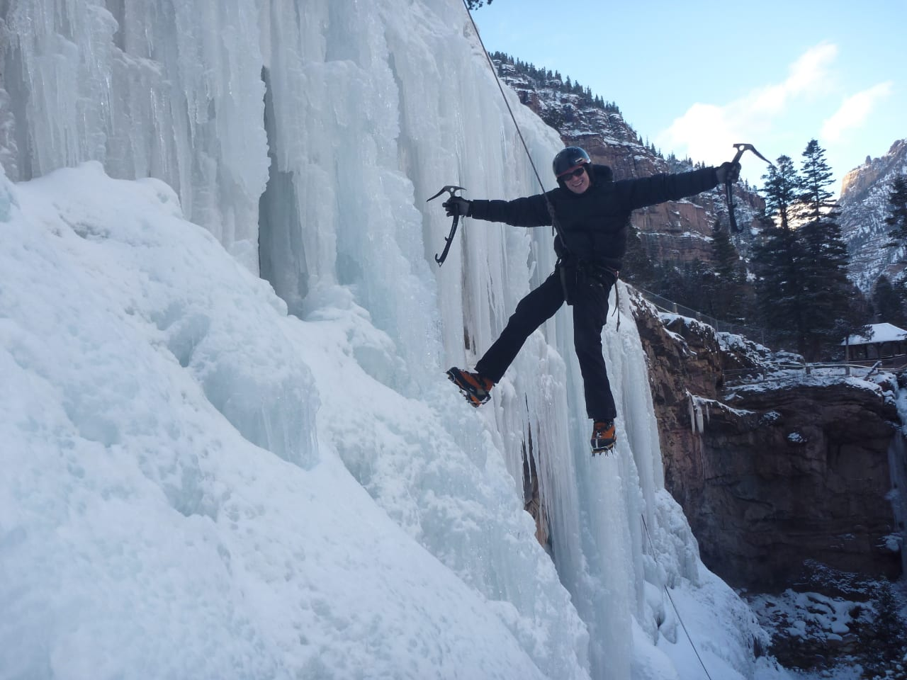 Ouray Ice Park Ice Climbing Colorado