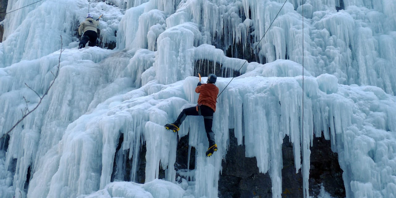 Ouray Ice Park Ice Climbing