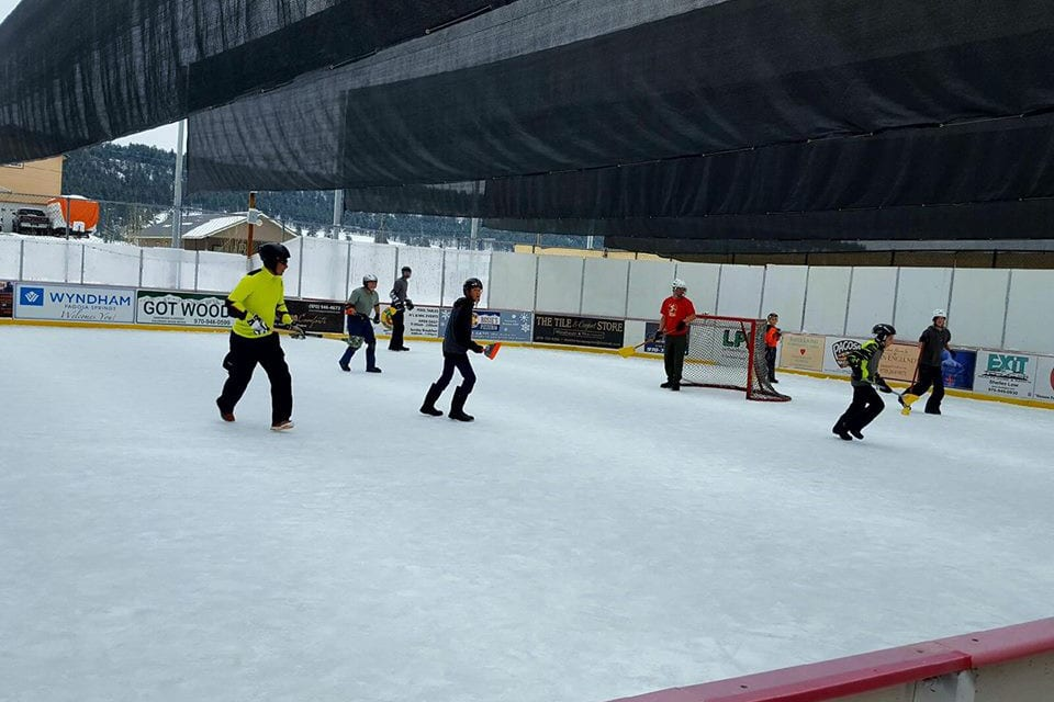 Pagosa Springs Ice Skating Broomball