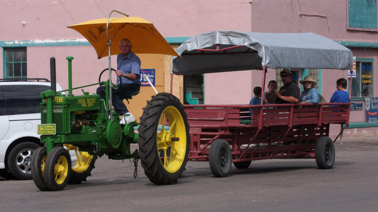 Rocky Ford Colorado Tractor Wagon