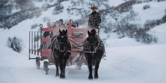 Saddleback Ranch Sleigh Ride Steamboat Springs Colorado