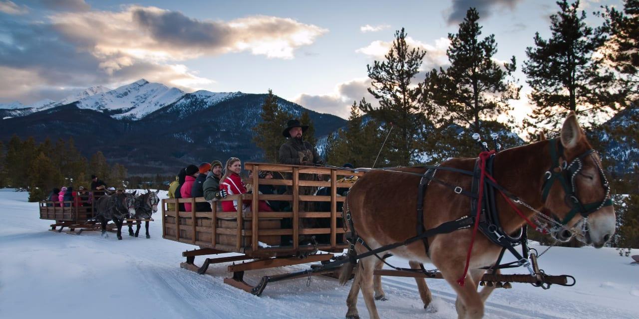 Two Below Zero Dinner Sleigh Ride Frisco Colorado