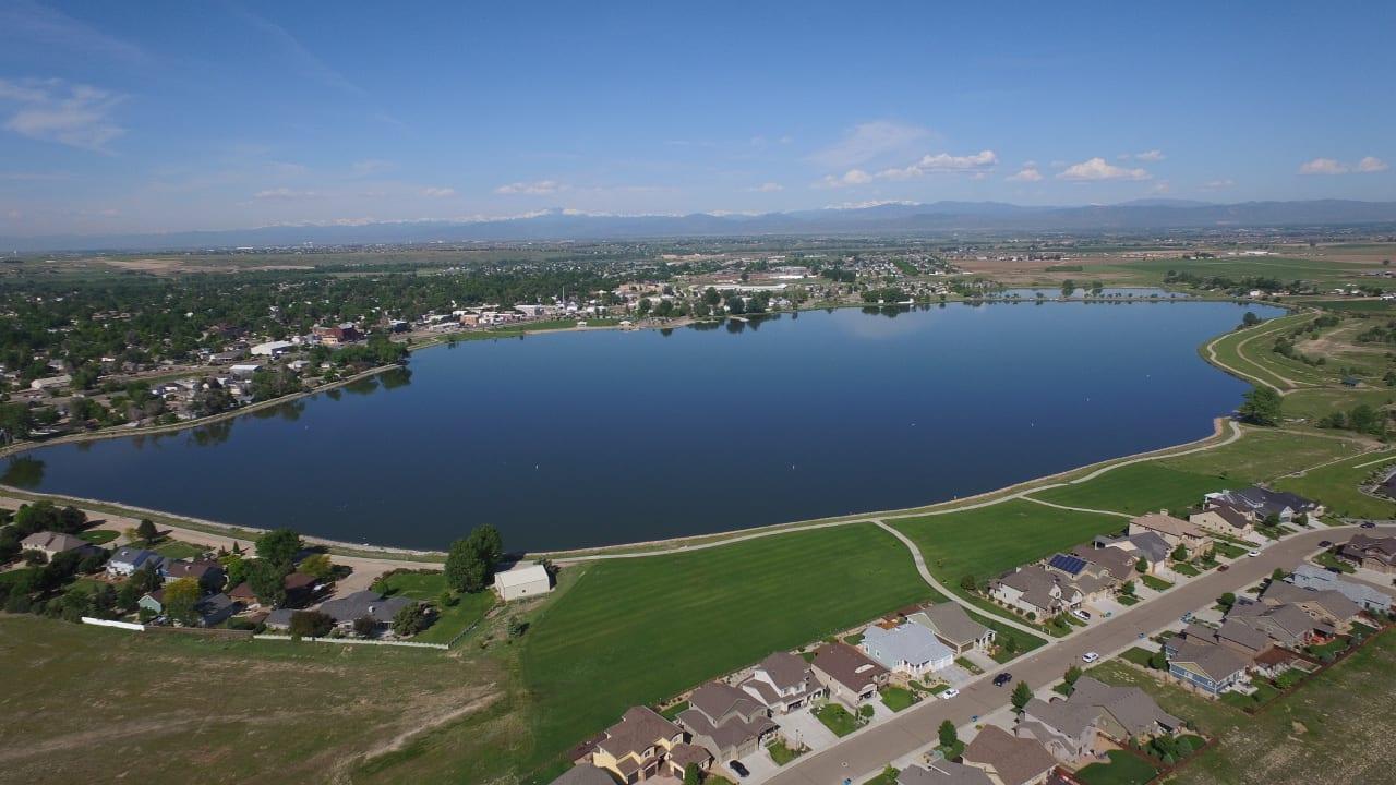 Windsor Lake Aerial View Looking West Colorado