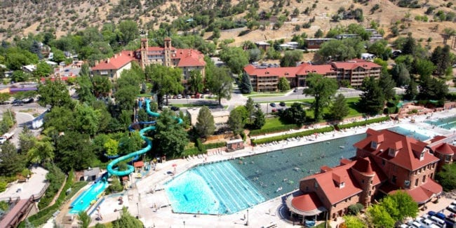 Best Hotels Glenwood Springs Colorado Aerial View