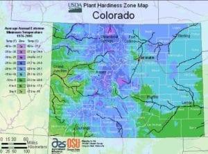 Colorado Plant Hardiness Map