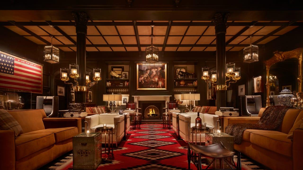 Hotel Jerome Apsen Colorado Fireplace Lounge
