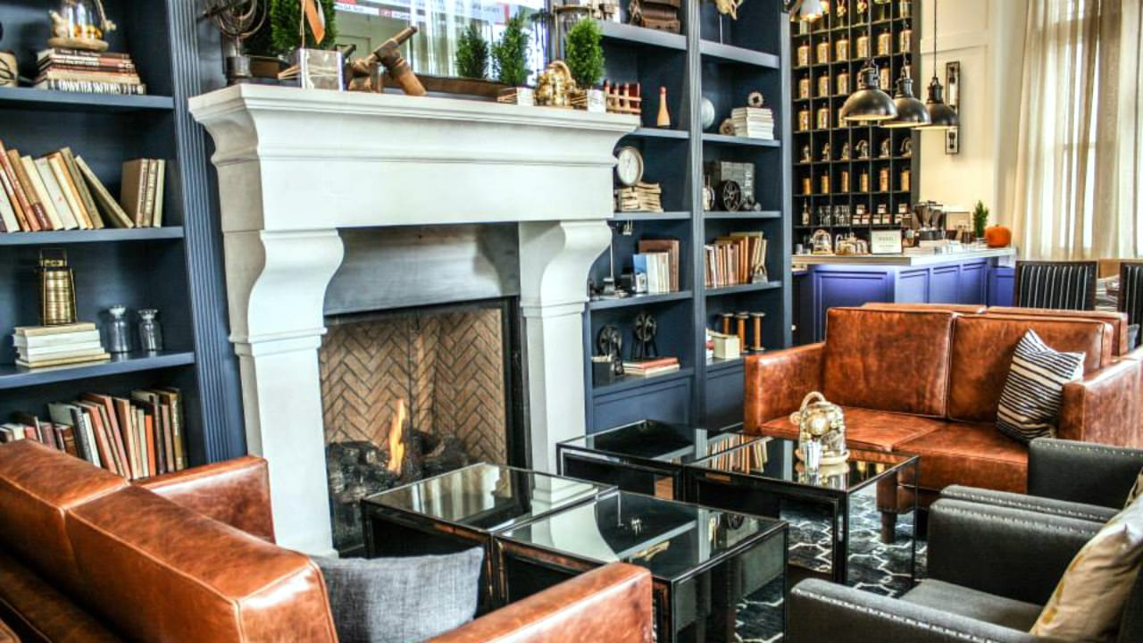 Hotel Teatro Fireside Lounge Denver Colorado