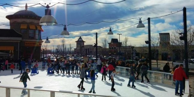 Ice Rink Promenade Shops at Centerra Loveland Colorado