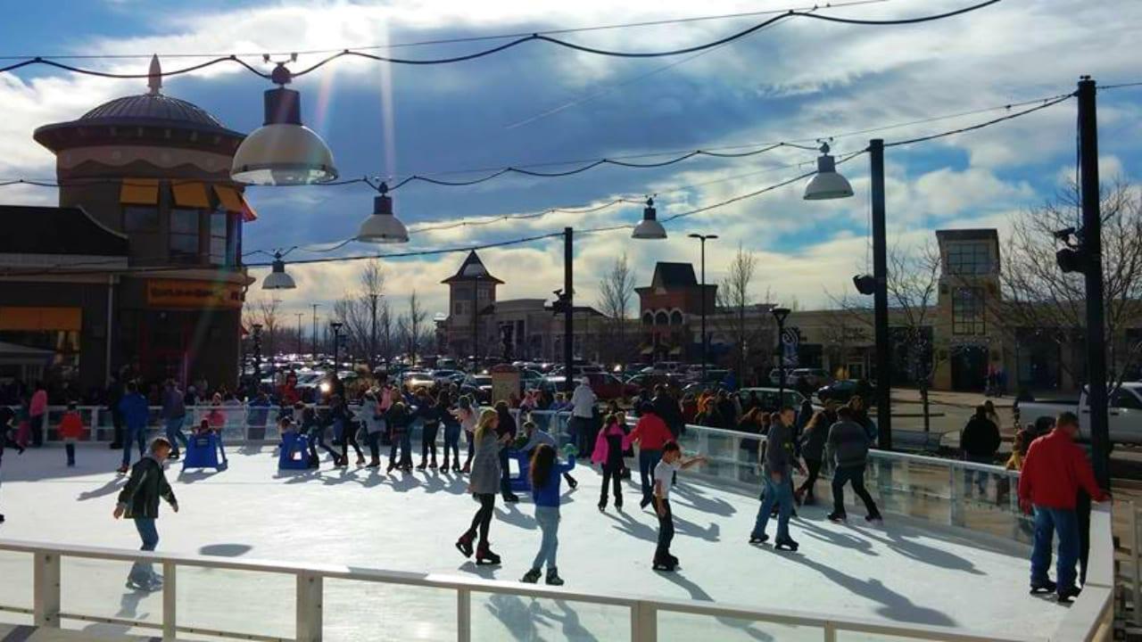 Ice Rink Promenade Shops at Centerra Loveland Colorado