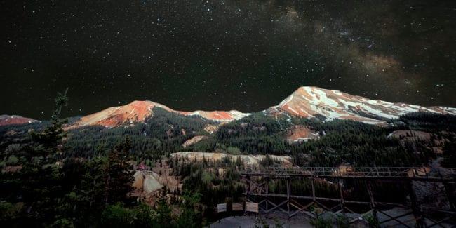 Red Mountain Pass Silverton Colorado Night Sky