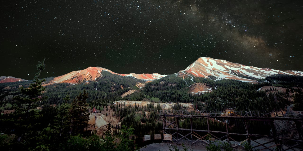 Red Mountain Pass Silverton Colorado Night Sky