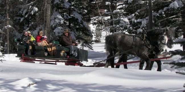 Aspen Carriage and Sleigh Ride Winter Colorado