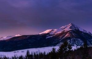 Colorado Rocky Mountains Evening
