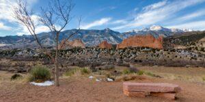 Garden of the Gods PikesS Peak Mesa Overlook Winter