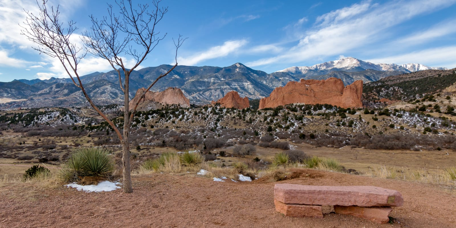 Garden of the Gods PikesS Peak Mesa Overlook Winter