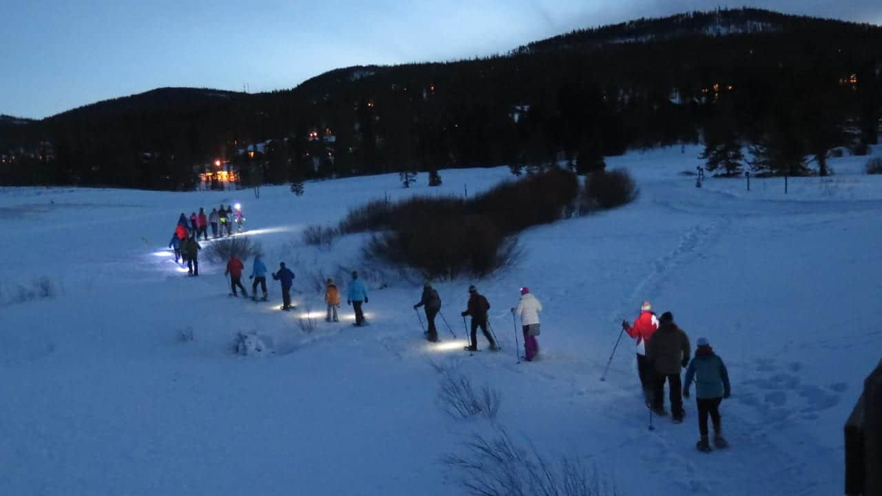 Gold Run Nordic Full Moon Snowshoe Hike
