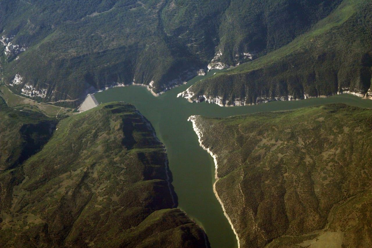 McPhee Reservoir Aerial View Colorado