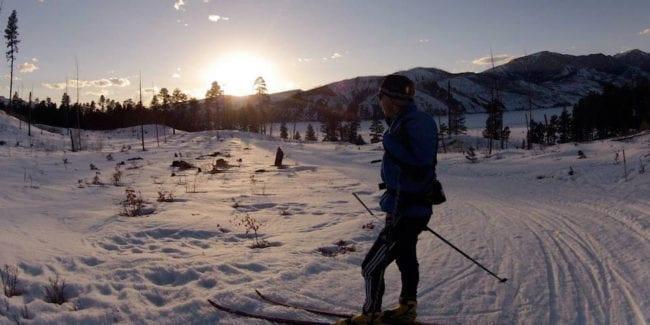 Vallecito Lake Nordic Skiing Sunset