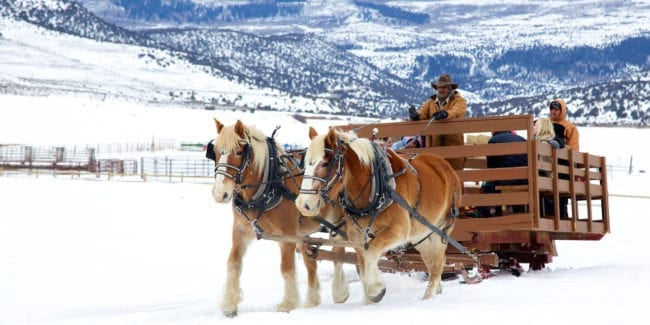 4 Eagle Ranch Sleigh Ride Wolcott Colorado
