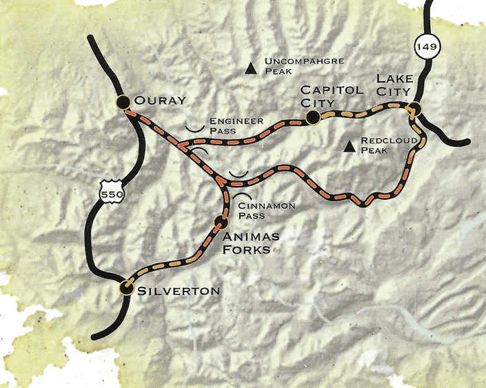 Alpine Loop National Scenic Byway | 4×4 scenic drive from Ouray to