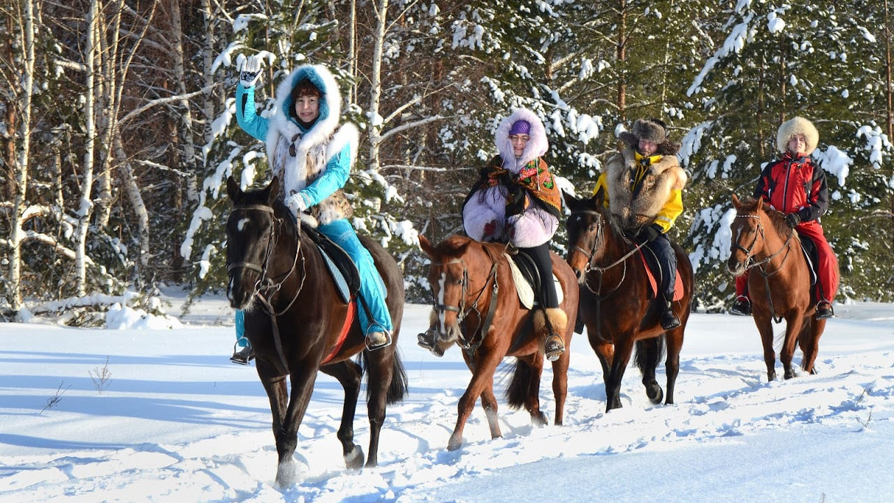 Sombrero Stables Winter Horseback Tour Colorado