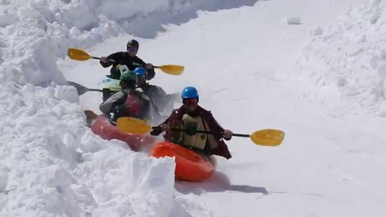 Snow Kayaking Monarch Mountain
