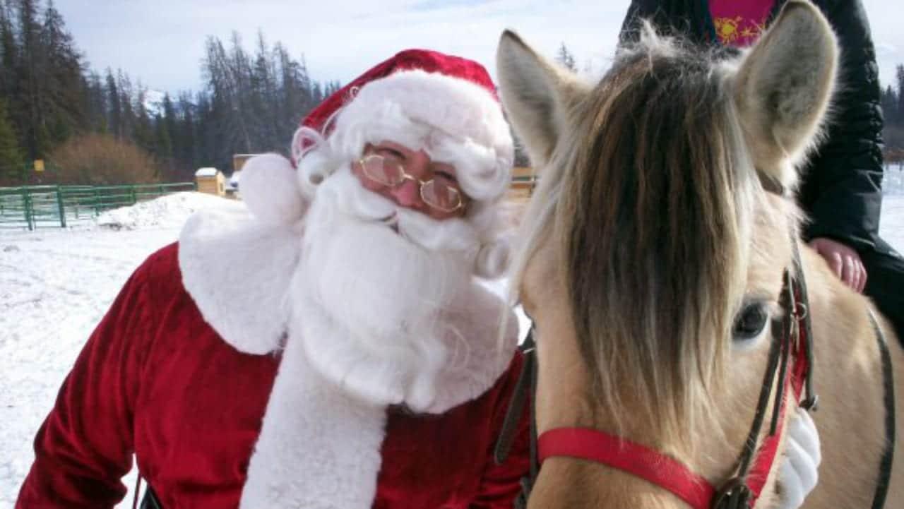 Winding River Resort Sleigh Ride Santa Clause