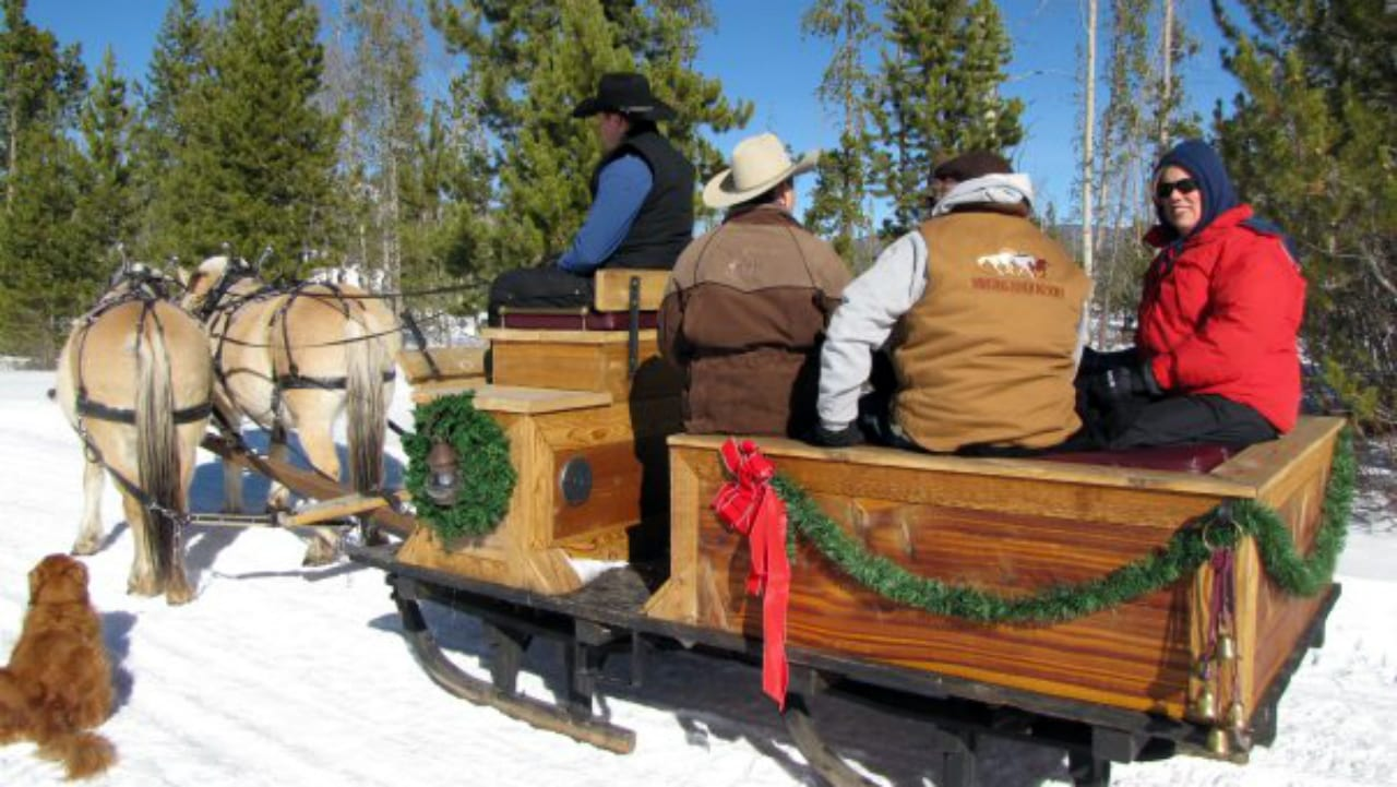 Winding River Resort Sleigh Ride Grand Lake