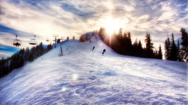 Aspen Highlands Ski Resort Sunset
