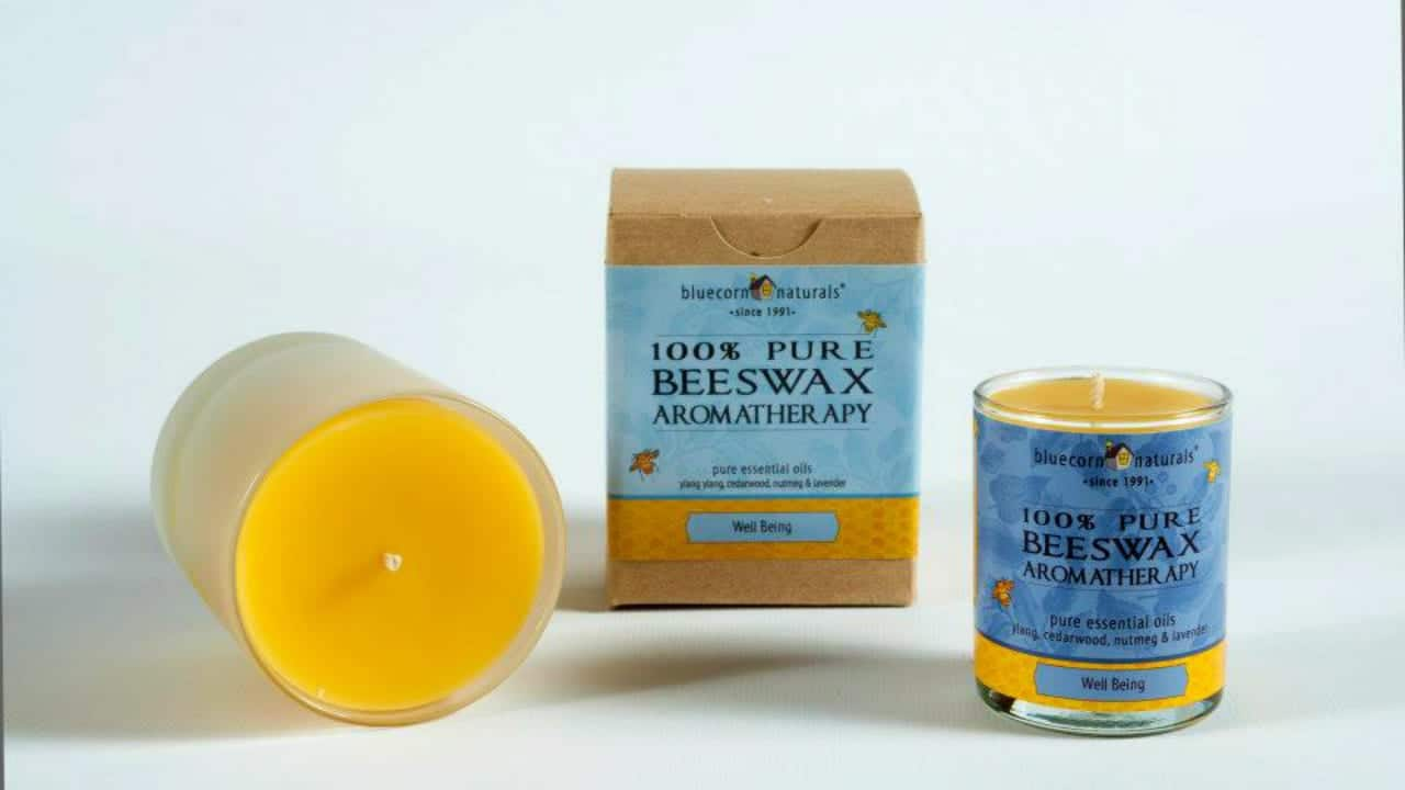 Bluecorn Beeswax Aromatherapy Candles