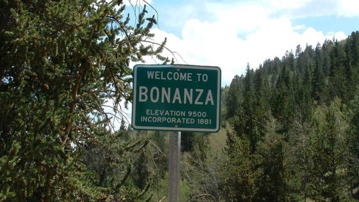 Bonanza CO Ghost Town SIgn