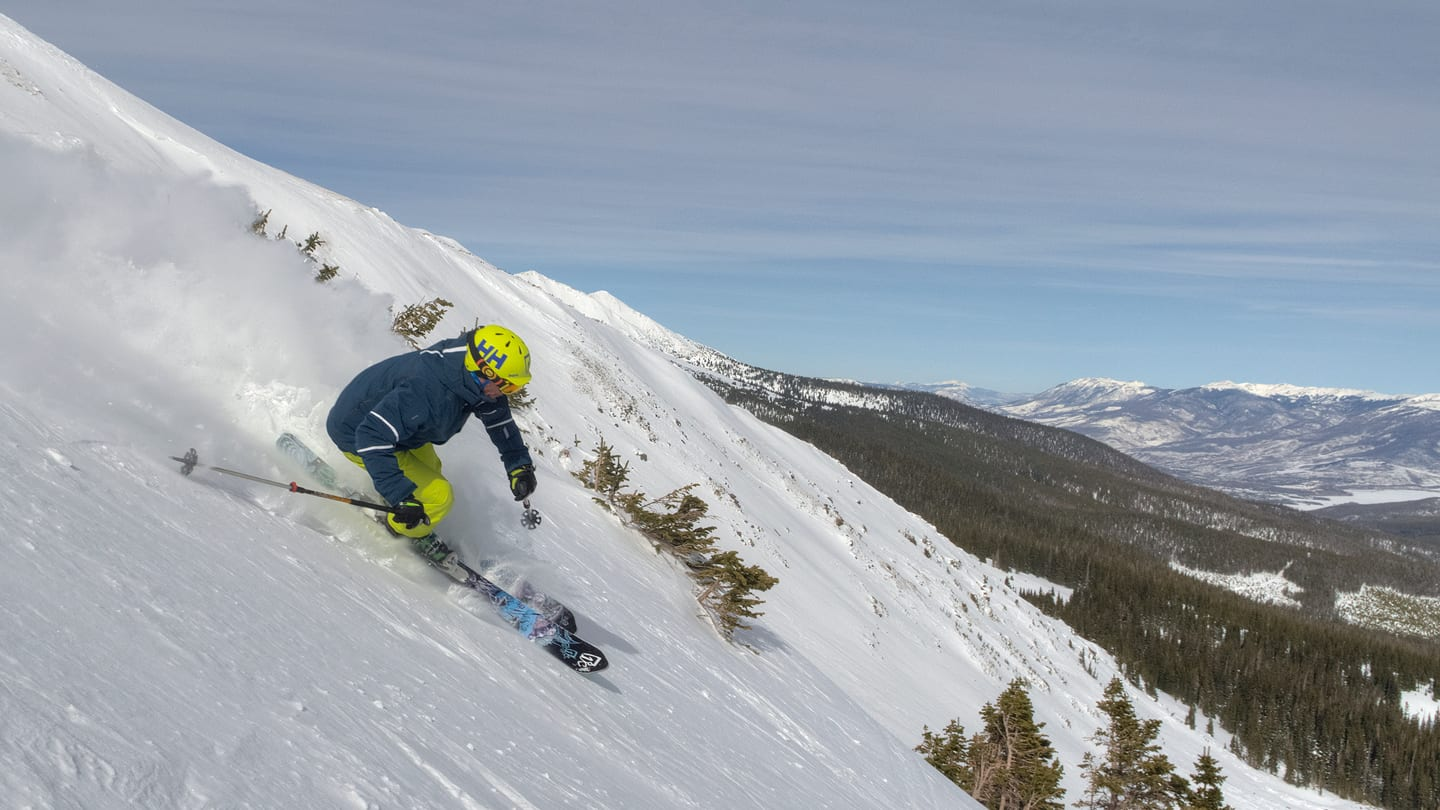 Breckenridge Ski Resort Imperial Chairlift Skier