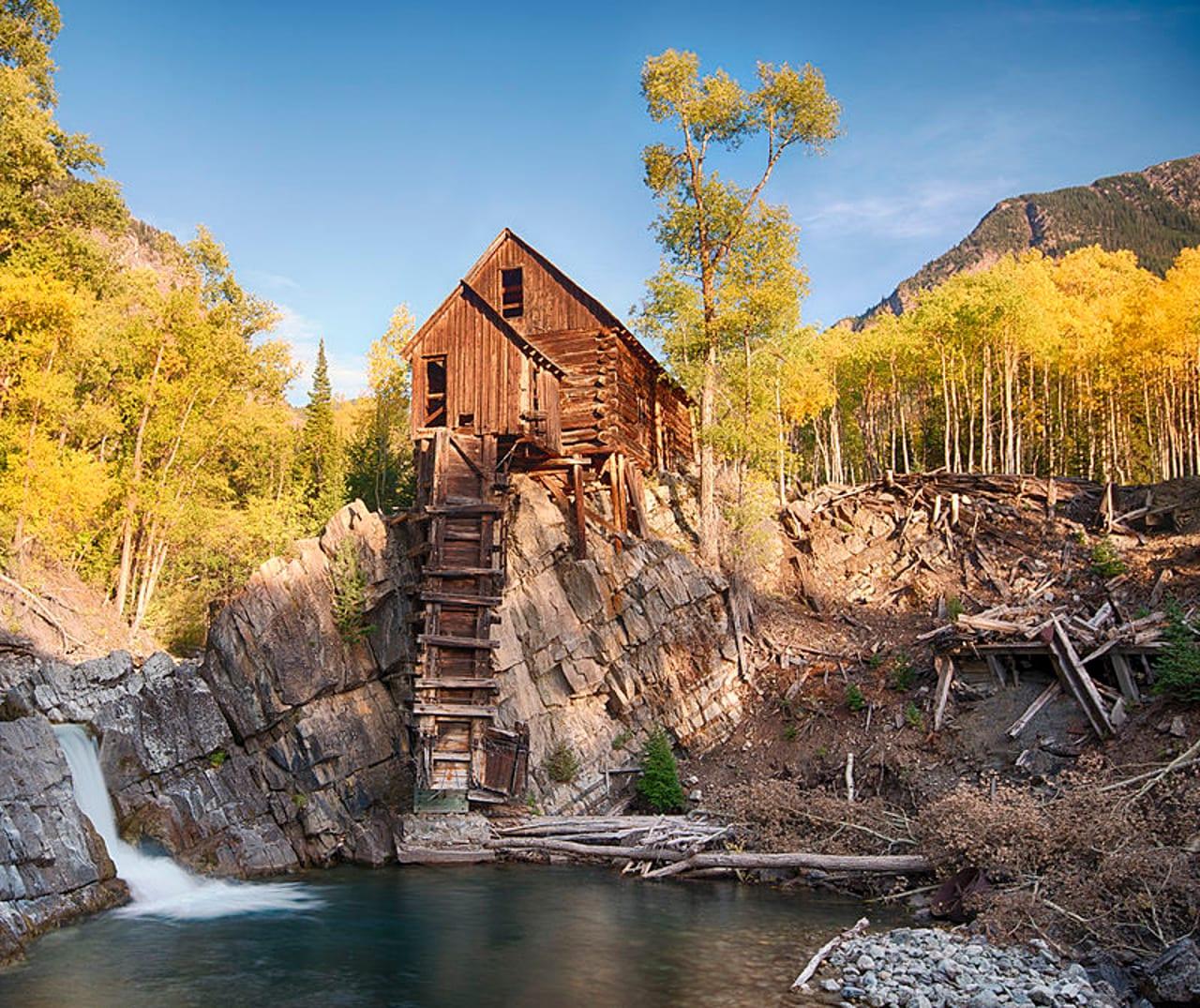 Crystal Mill Colorado Autumn