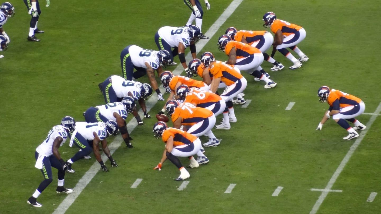 Denver Broncos vs Seattle Seahawks Mile High Stadium Colorado