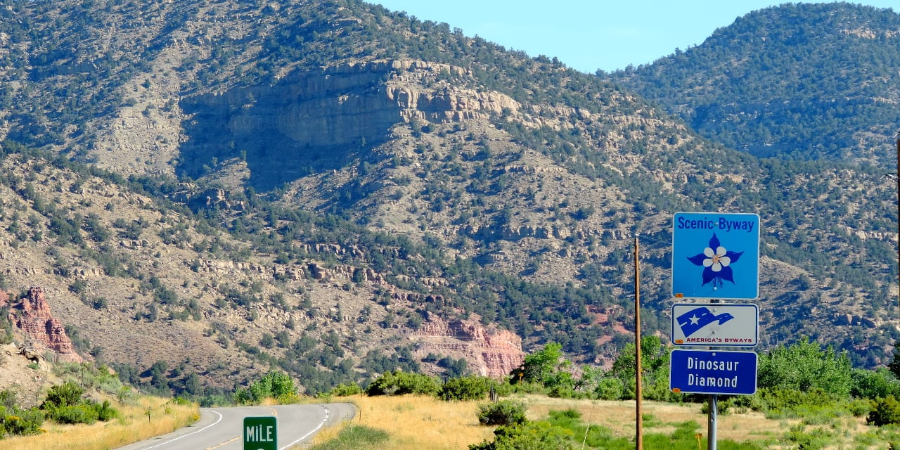 Dinosaur Diamond National Scenic Byway Highway CO 139