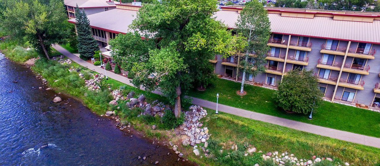 DoubleTree by Hilton Hotel Durango Animas River Aerial View
