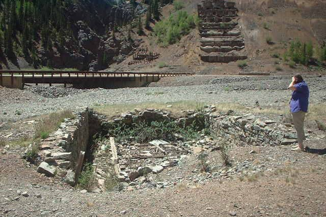 Eureka CO Ghost Town Foundations