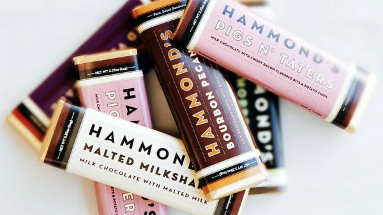 Hammond's Candies Chocolate Bar Flavors