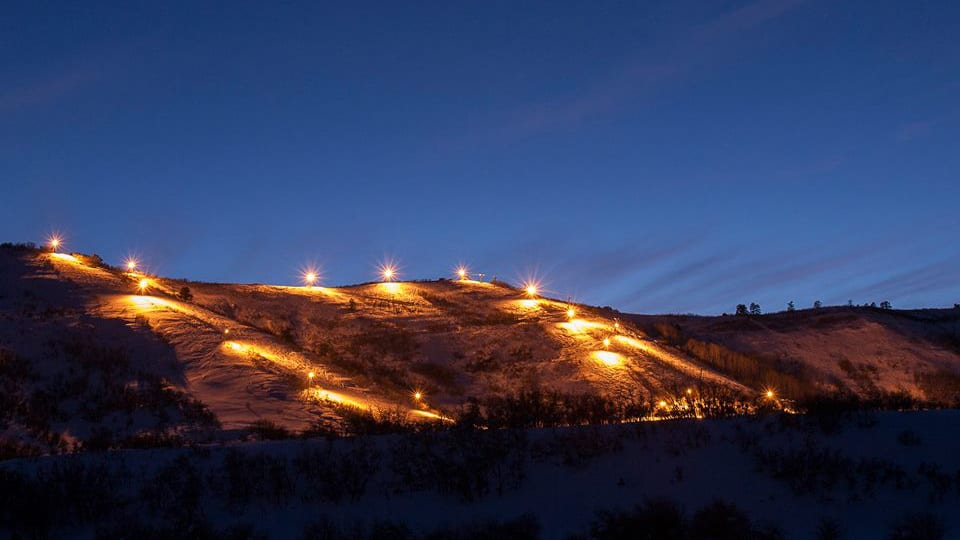 Hesperus Ski Area Night Skiing Lights
