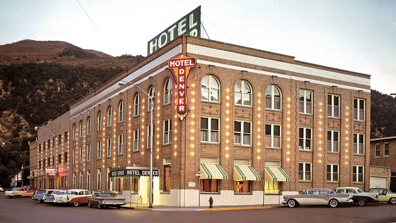 Vintage 1950s Hotel Denver Glenwood Springs Colorado