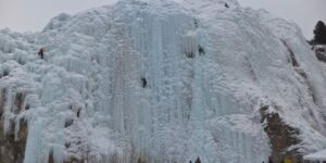 Ice Climbers Showdown in Lake City